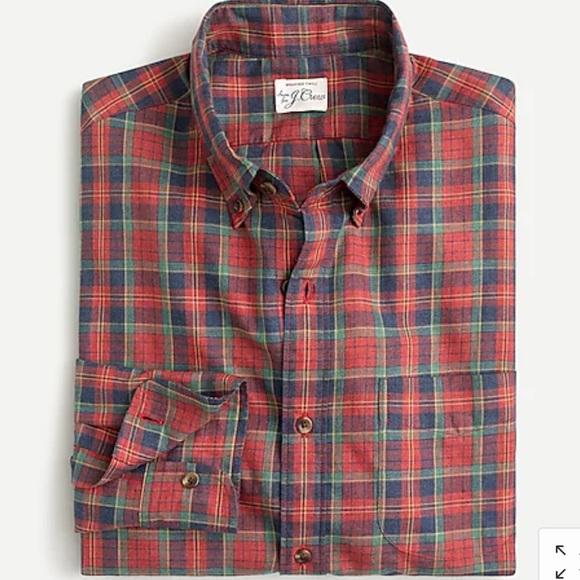 J Crew Slim Untucked Brushed Twill Shirt, NWT